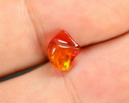 1.04 CTS World Very Rare Natural Mexican Fire Opal Loose Gemstones