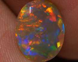 1.55 CT Dark Base!!Top Quality Welo Ethiopian Faceted Opal - EB112