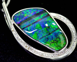 70.50 CTS - BEAUTIFUL BOULDER OPAL GOLD PENDANT INV-1200