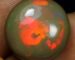 11.95cts Broad Multi Neon Fire Natural Ethiopian Welo Opal