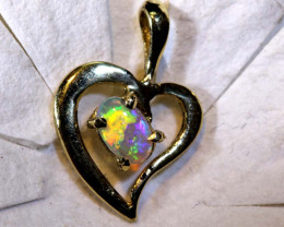 4.10 CTS  CRYSTAL OPAL GOLD PENDANT  OF-2517