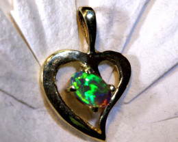 4.60 CTS  CRYSTAL OPAL  18K SOLID GOLD PENDANT  OF-2518