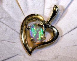 4.50 CTS  CRYSTAL OPAL GOLD PENDANT  OF-2519