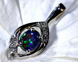 8.50 CTS  BLACK OPAL GOLD PENDANT OF-2535