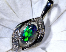 8.75 CTS  BLACK OPAL GOLD PENDANT OF-2539