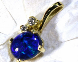 8.75 CTS  BLACK OPAL GOLD PENDANT OF-2541