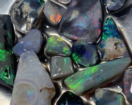 53 Carats of Lightning Ridge Black Opal Rubs#308