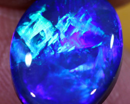 5.00CTS CHINESE WRITING BLACK OPAL [bd6]J.Mac