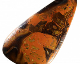 79.05 CTS CHOCOLATE IRONSTONE WITH CARAMEL OPAL[MS8260]A