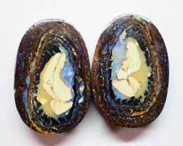 35.10CT VIEW PAIR KOROIT BOULDER OPAL  AA419