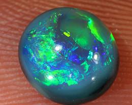 1.15ct 7x6.5mm Solid Lightning Ridge Dark Opal [LO-1507]