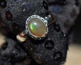 ETHIOPIAN OPAL RING 925 STERLING SILVER JE1741