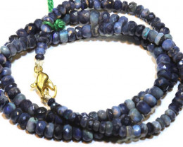 52.35 CTS BLACK OPAL FACETED BEADS STRAND TBO-8881