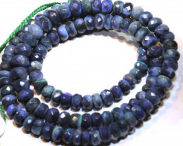 90.55 CTS BLACK OPAL FACETED BEADS STRAND TBO-8887