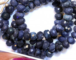 77 CTS BLACK OPAL FACETED BEADS STRAND TBO-8888