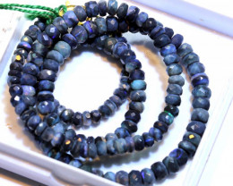 52 CTS BLACK OPAL FACETED BEADS STRAND TBO-8889
