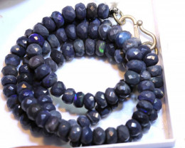 65.50 CTS BLACK OPAL FACETED BEADS STRAND TBO-8890
