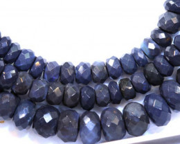 71 CTS BLACK OPAL FACETED BEADS STRAND TBO-8892