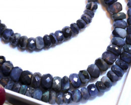 50.45 CTS BLACK OPAL FACETED BEADS STRAND TBO-8893