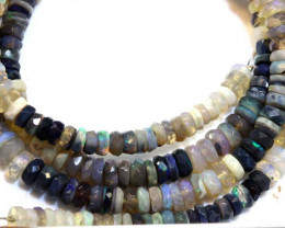54.35 CTS BLACK OPAL FACETED BEADS STRAND TBO-8898