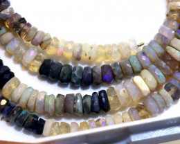 53.75 CTS BLACK OPAL FACETED BEADS STRAND TBO-8900