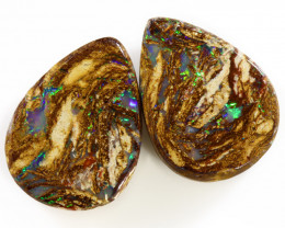 15CTS BOULDER OPALS YOWAH PAIRS WITH GREAT COLORS S1150