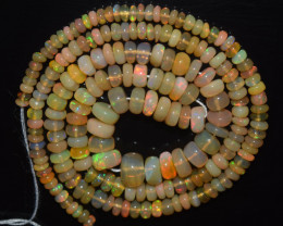 40.80 Ct Natural Ethiopian Welo Opal Beads Play Of Color