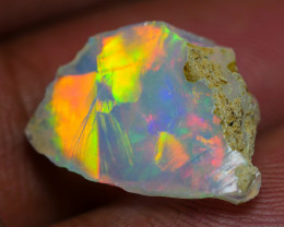 3.85 CRT WELO OPAL ROUGH MULTICOLOR ETHIOPIAN OPAL