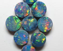 5.5mm - 9  Stone Australian Doublet Opal Parcel