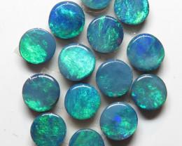 3.5 mm  16 Stone Australian Doublet Opal Parcel