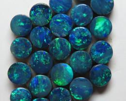 3.5mm  25 Stone Australian Doublet Opal Parcel