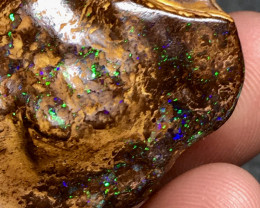 Bright Color Yowah Boulder Opal Carved Specimen