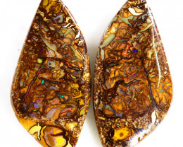 31.20CTS BOULDER OPALS YOWAH PAIRS WITH GREAT COLORS S1161