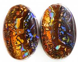 63CTS BOULDER OPALS YOWAH PAIRS WITH GREAT COLORS S1162