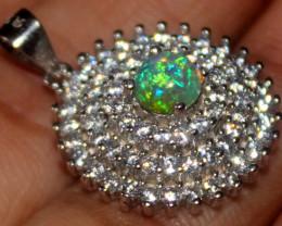 Natural Ethiopian Fire Opal 925 Silver Pendant 263
