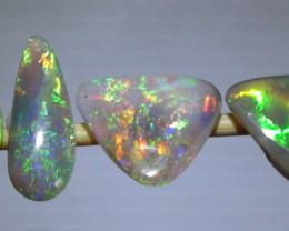 3.45 ct 4 Gem Multi Color Lightning Ridge Opal Ring Stone Parcel