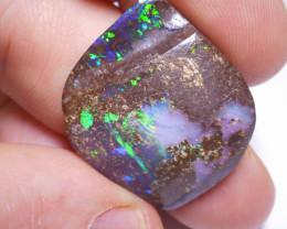 32ct Boulder Opal Polished Stone (Side Drilled)