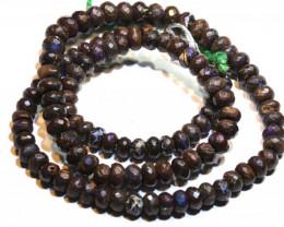 Faceted Yowah Opal Beads