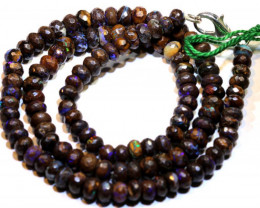 Faceted Yowah Opal Beads