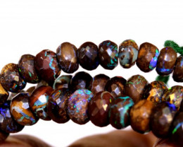 125 CTS YOWAH OPAL FACETED BEAD STRAND TBO-8906