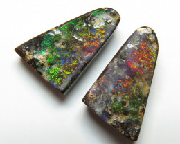 6.73ct Queensland Boulder Opal Split Pair