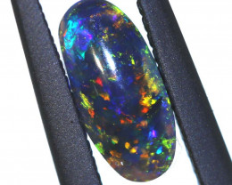 N 2- 0.90 CTS QUALITY BLACK OPAL POLISHED STONE INV-1248