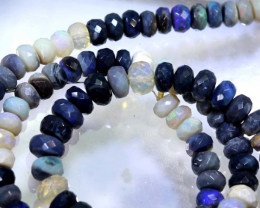 105.85 CTS BLACK OPAL FACETED BEADS STRAND TBO-8985