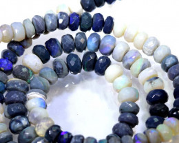 105 CTS BLACK OPAL FACETED BEADS STRAND TBO-8986