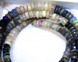 54 CTS BLACK OPAL FACETED BEADS STRAND TBO-8991