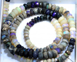 62 CTS BLACK OPAL FACETED BEADS STRAND TBO-8997