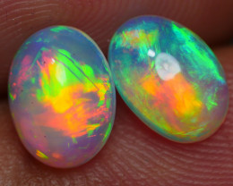 1.70 CRT 2PCS BROAD FLASH PLAY COLOR BEAUTY BROAD STIPE PATTERN WELO OPAL