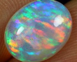 SUPER DEAL 2.20cts Brush Rainbow Fire Natural Ethiopian Welo Opal