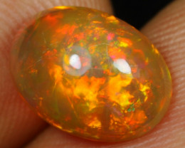 SUPER DEAL 2.40cts Dazzling Volcano Fire Natural Ethiopian Welo Opal