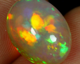 SUPER DEAL 7.10cts Strong Broad Neon Fire Natural Ethiopian Welo Opal